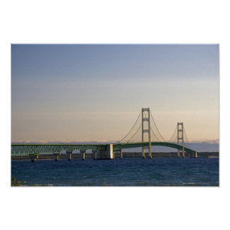 The Mackinac Bridge spanning the Straits of 3 Poster