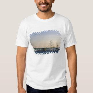 The Mackinac Bridge spanning the Straits of 3 Tee Shirt