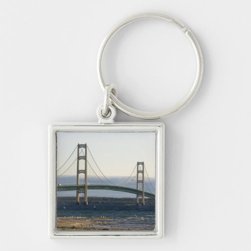 The Mackinac Bridge spanning the Straits of 4 Keychains