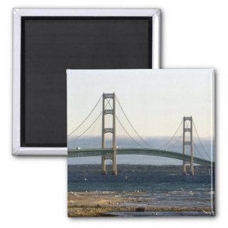 The Mackinac Bridge spanning the Straits of 4 Fridge Magnets