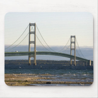 The Mackinac Bridge spanning the Straits of 4 Mouse Pad