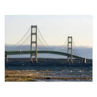 The Mackinac Bridge spanning the Straits of 4 Postcard