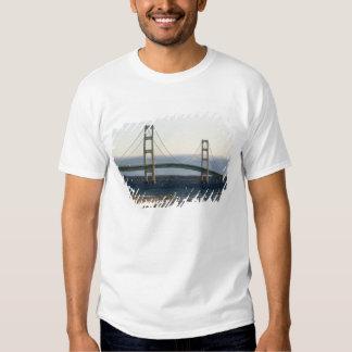 The Mackinac Bridge spanning the Straits of 4 Tee Shirt