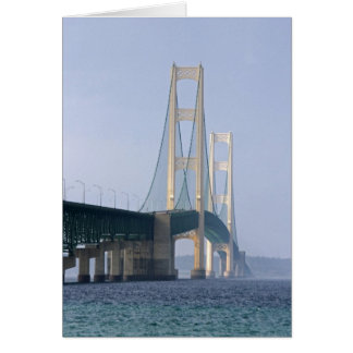 The Mackinac Bridge spanning the Straits of Card