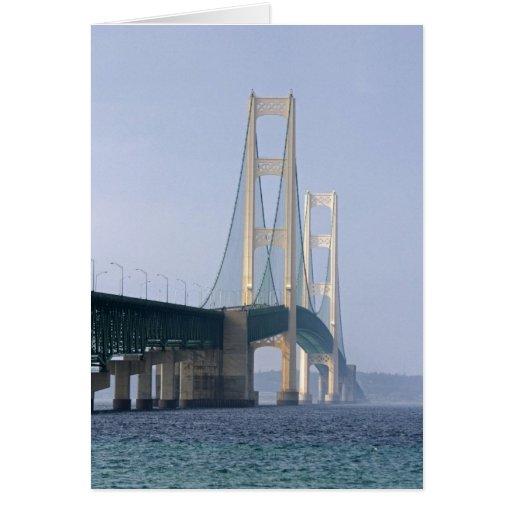 The Mackinac Bridge spanning the Straits of Greeting Card