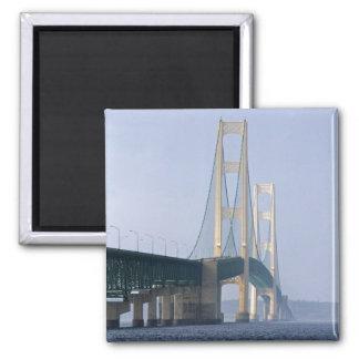 The Mackinac Bridge spanning the Straits of Fridge Magnets