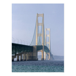 The Mackinac Bridge spanning the Straits of Postcard