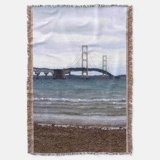 The Mackinac Bridge Throw Blanket