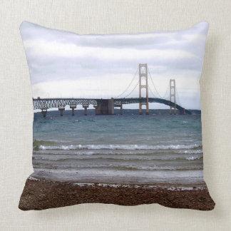 The Mackinac Bridge Throw Pillow