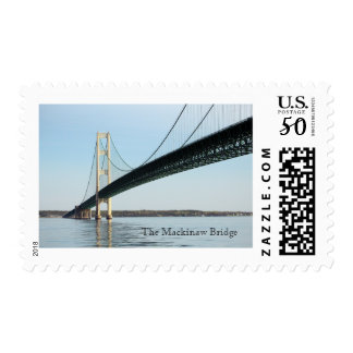 The Mackinaw Bridge Underneath Stamp