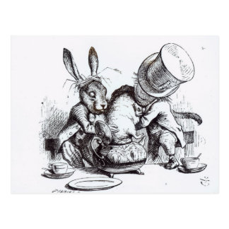 The Mad Hatter and the March Hare Postcard