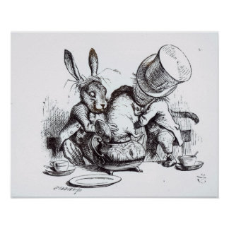 The Mad Hatter and the March Hare Poster