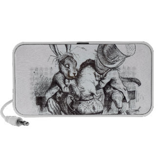 The Mad Hatter and the March Hare Portable Speakers