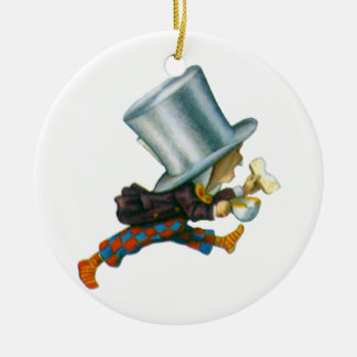 The Mad Hatter from Alice in Wonderland Double-Sided Ceramic Round Christmas Ornament