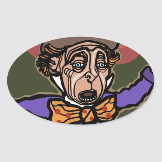 The Mad Hatter Oval Sticker