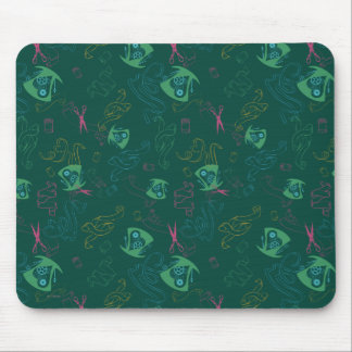The Mad Hatter Pattern Mouse Pad