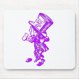 The Mad Hatter Pink Purple Mouse Pad
