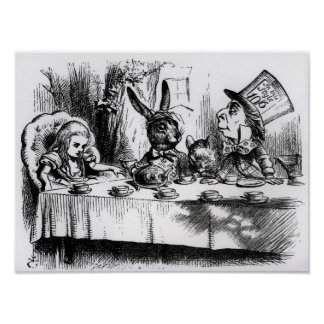 The Mad Hatter s Tea Party Poster