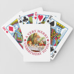 The Mad Hatter says A Very Merry Unbirthday To You Card Deck