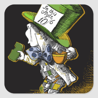 The Mad Hatter Square Sticker