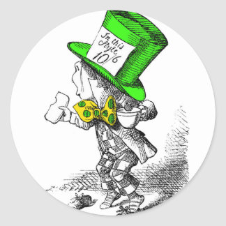 The Mad Hatter Round Stickers