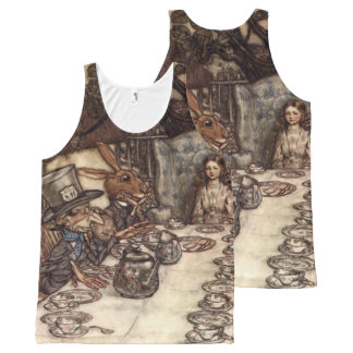 The Mad Hatter Tea Party by Arthur Rackham All-Over-Print Tank Top