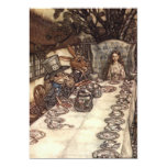 The Mad Hatter Tea Party by Arthur Rackham Personalized Invitations