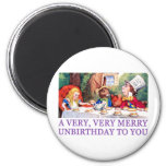 THE MAD HATTER WISHES ALICE A MERRY UNBIRTHDAY! REFRIGERATOR MAGNETS
