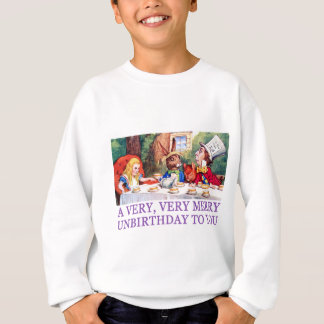 THE MAD HATTER WISHES ALICE A MERRY UNBIRTHDAY! SWEATSHIRT