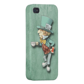 The Mad Hatter with a Cup of Tea iPhone 4 Covers