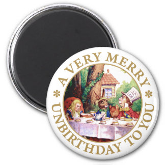 THE MAD HATTER'S TEA PARTY 2 INCH ROUND MAGNET