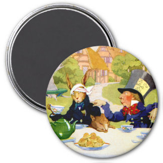 The Mad Hatter's Tea Party 3 Inch Round Magnet