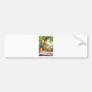 THE MAD HATTER'S TEA PARTY CAR BUMPER STICKER