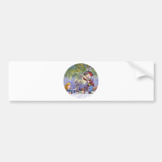 THE MAD HATTERS TEA PARTY CAR BUMPER STICKER