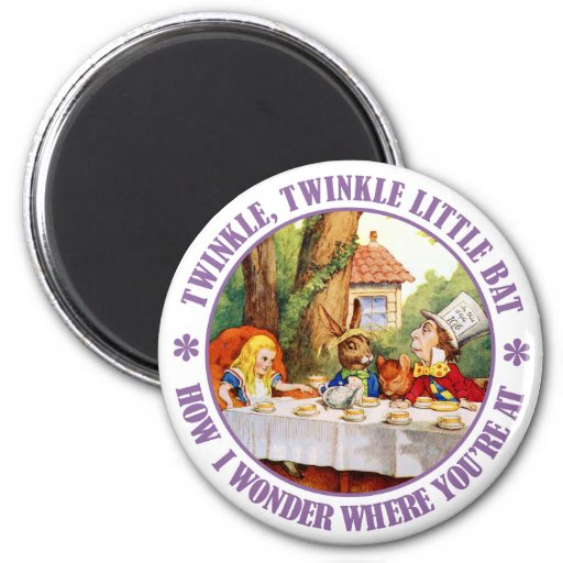 The Mad Hatter's Tea Party Fridge Magnets