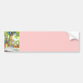 The Mad Hatters Tea Party Full Color Bumper Sticker