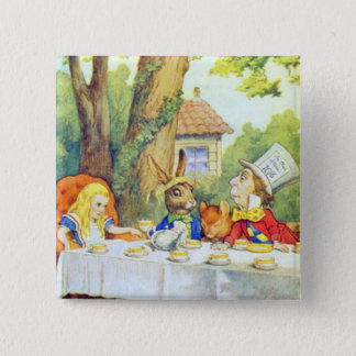 The Mad Hatters Tea Party Full Color Button