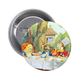 The Mad Hatters Tea Party Full Color Pins