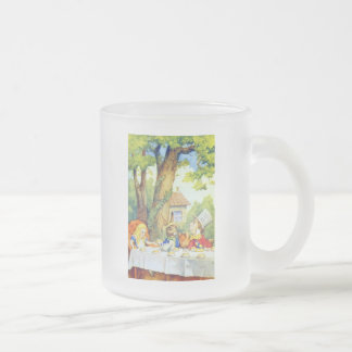 The Mad Hatters Tea Party Full Color Frosted Glass Coffee Mug