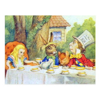The Mad Hatters Tea Party Full Color Postcard