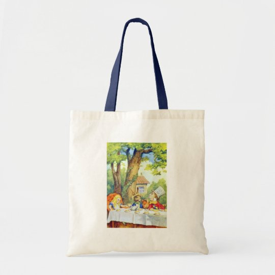 The Mad Hatters Tea Party Full Color Tote Bag