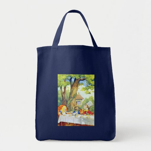 The Mad Hatters Tea Party Full Color Tote Bags