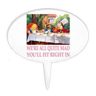 The Mad Hatter's Tea Party in Alice in Wonderland Cake Topper