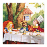 The Mad Hatter's Tea Party in  Alice in Wonderland Canvas Print