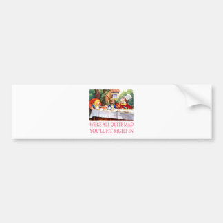 The Mad Hatter's Tea Party in Alice in Wonderland Car Bumper Sticker