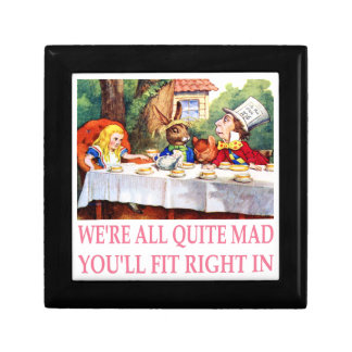The Mad Hatter's Tea Party in Alice in Wonderland Keepsake Box