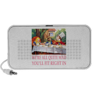 The Mad Hatter's Tea Party in Alice in Wonderland Mp3 Speakers