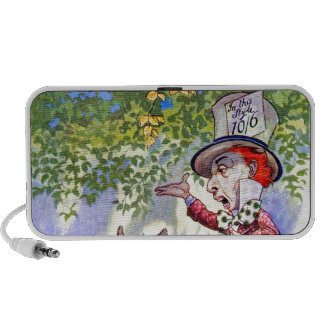The Mad Hatter's Tea Party in Alice in Wonderland Travelling Speakers