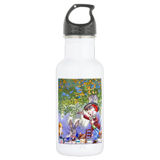 The Mad Hatter's Tea Party in Alice in Wonderland Stainless Steel Water Bottle