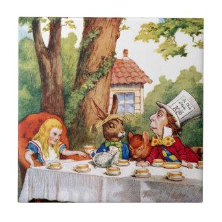 The Mad Hatter's Tea Party in Wonderland Ceramic Tile